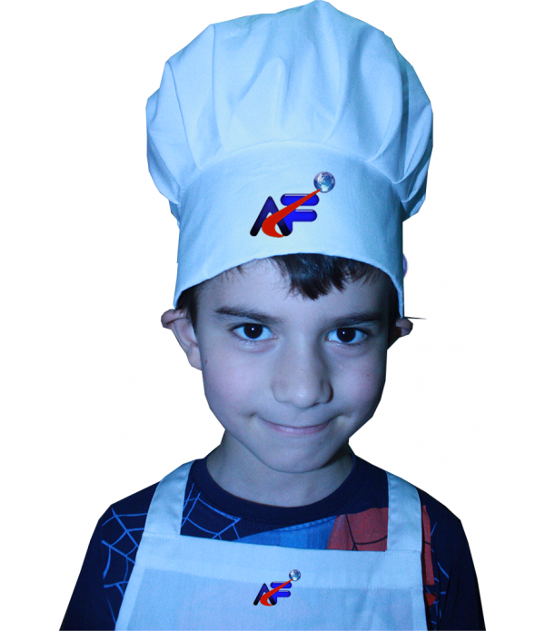 çocuk aşçı kep-mantar kep